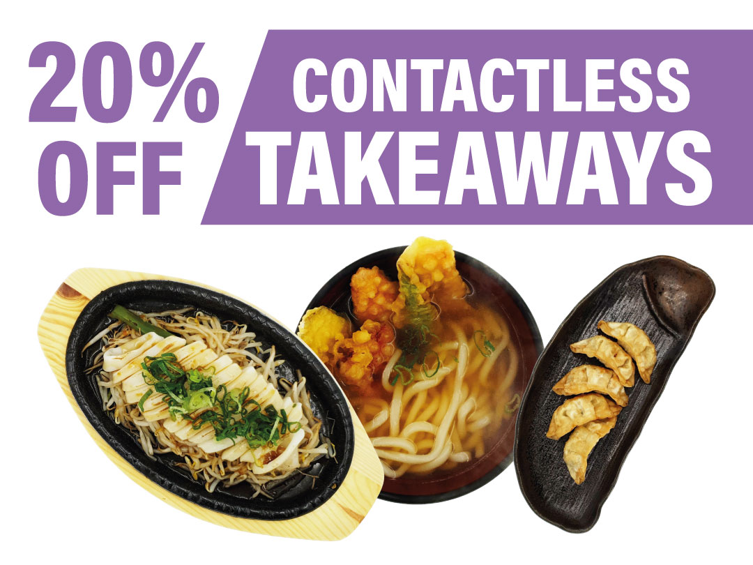 November Special 20% Off Takeaways.